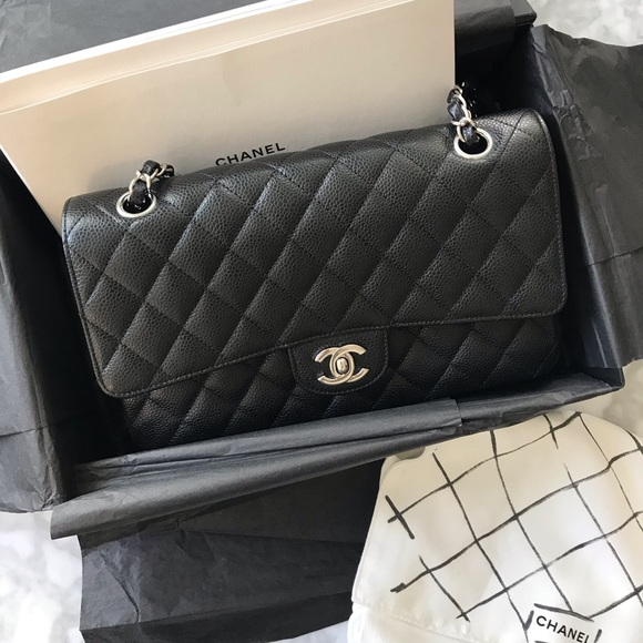 latest design great quality undefeated x CHANEL Bags | Classic Flap Medium Black Caviar Authentic | Poshmark